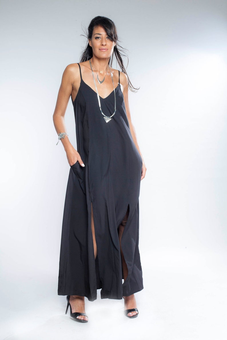 14fe45d70 Womens Gift Black Maxi Dress Bridesmaid Dress Tank Top