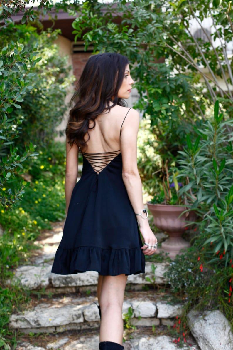 Black Mini Dress Sleeveless Dress Black Sundress Black  5d75c26c5