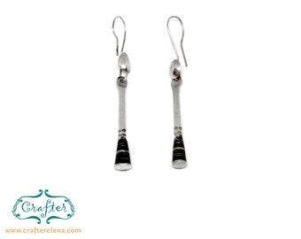 Tuareg Round Ebony Earrings