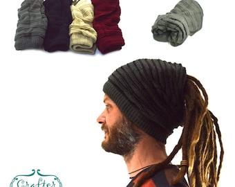 Dreadlocks Beanie Bandana Reversable Knitwear Cotton eb0b680402b