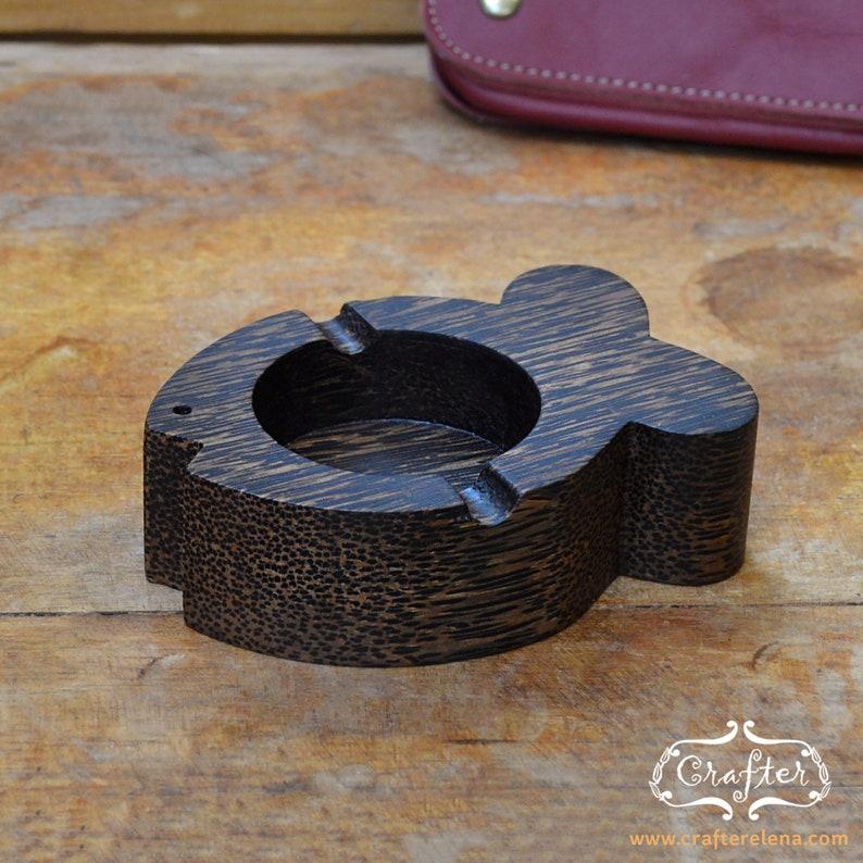 Wooden Fish Design Palm Wood Handmade Ashtray