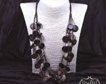 Circle Necklace Coconut Beads Natural Eco Jewellery