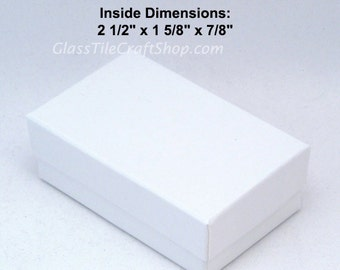 Jewelry Gift Box, White Jewelry Box, Gift Box, Small Jewelry Box, White Gift Box, Pendant Gift Box,  (8 Pack) With Inner Cotton Fill Pad.