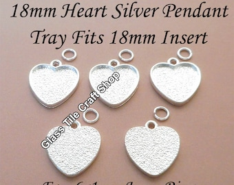 100pcs 18mm Hearts Base bottom Tray Vintage Pendant antique DIY Jewelry Findings Wholesale Supplies pp371