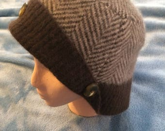 7423be74781 Multi brown felted lambswool womens hat
