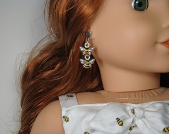 Bumble Bee Earring Dangles for 18 Inch Doll American Girl Blaire Jewelry