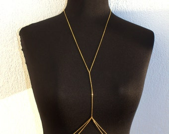 IBIZA IBIZA  - Gold Body Chain, Body Jewelry, Beach Jewelry