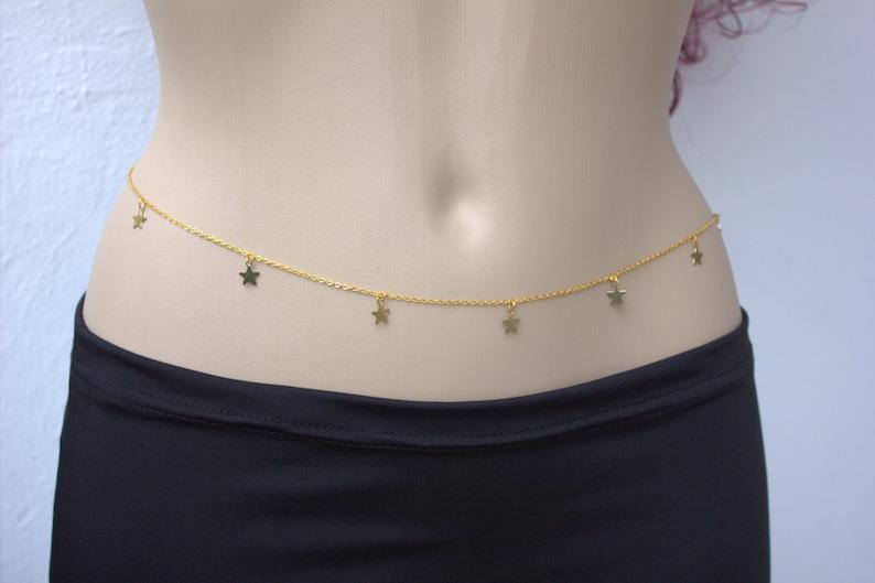 STARs - Gold STAR Belly Chain - Body Chain, Body Jewelry, Boho, Beach,  Hippie, Gypsy, Bohemian