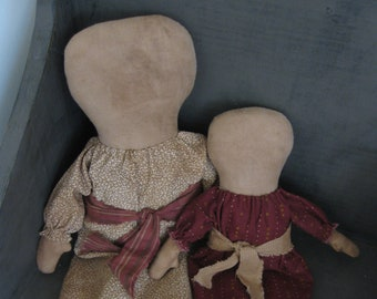 Set of two Prairie Dolls