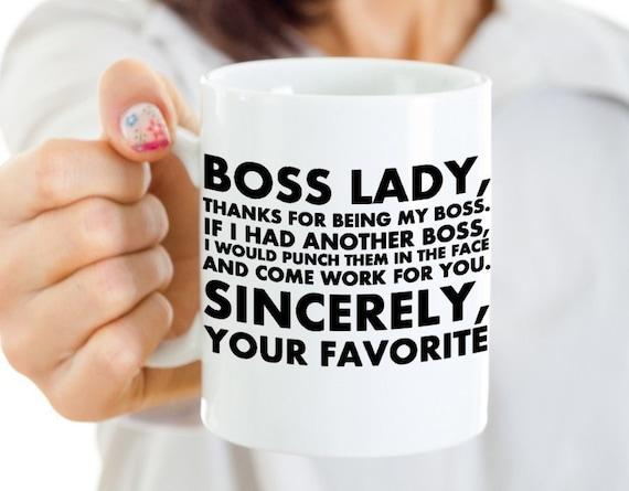 Boss Lady Coffee Mug Funny Christmas Gift National Boss Day