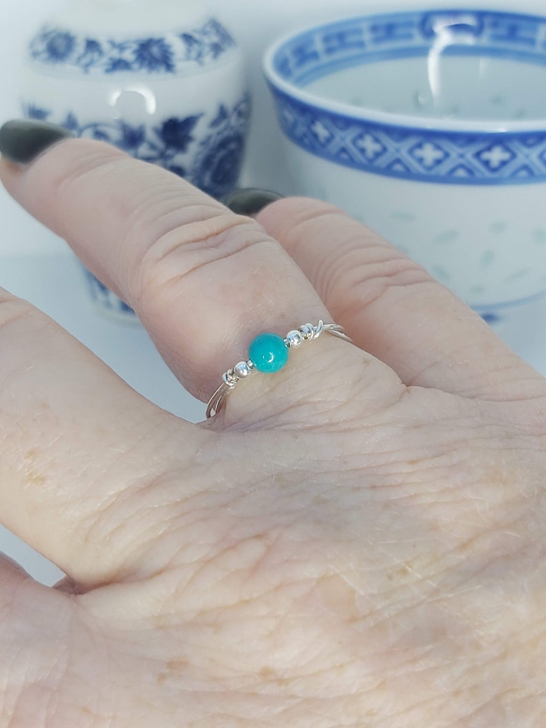 Gemstone Christmas Gifts Abstract Jewelry Gifts for her Clearance Things from the ground Raw Turquoise Handmade Ring