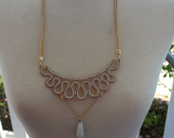 """Necklace gold for her """"white gold."""