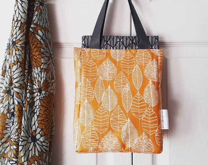 Featured listing image: Mustard Leaves wipe clean insulated lunch bag
