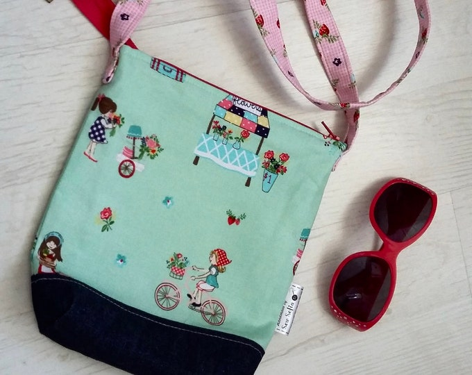 Mint green Bicycle Girl bag