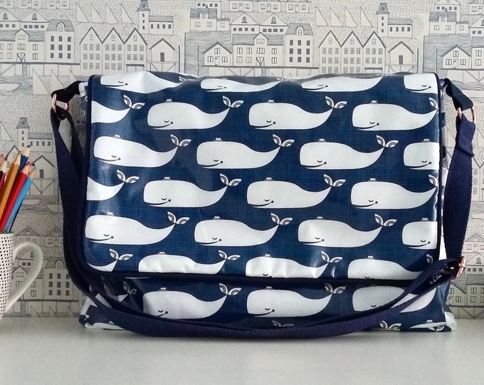 Whales Wipe clean satchel