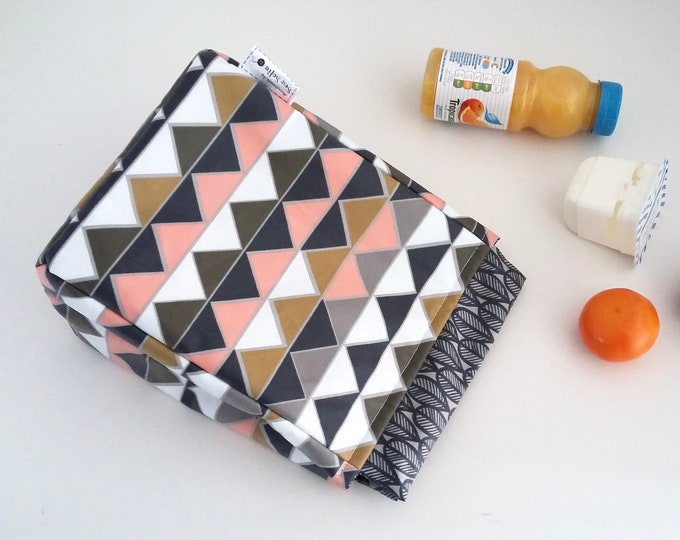 NEW - Prisms wipe clean, eco friendly, insulated lunch bag