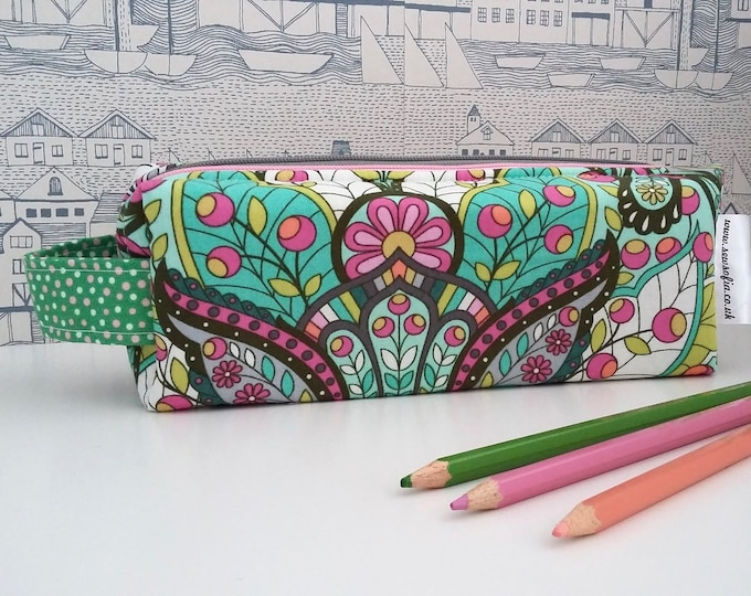 Featured listing image: RARE Down the rabbit hole double zipped boxy pencil case