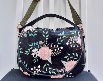 Blush Rose wipe clean saddle bag