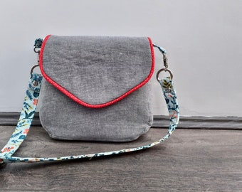 SAMPLE - Small linen bag with optional belt clip-on