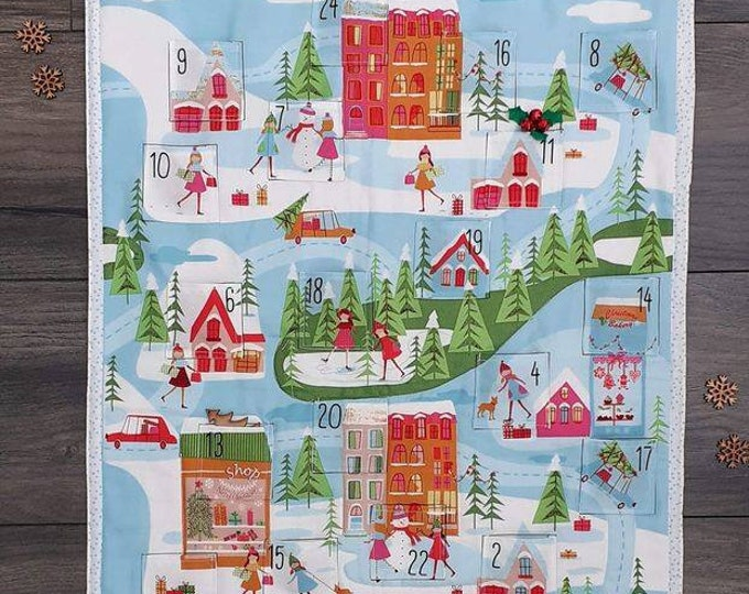 Featured listing image: Ready to post - Christmas Town quilted Advent Calendar