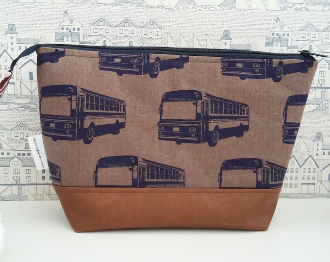 Featured listing image: Retro Buses Man's Large Toiletry Bag