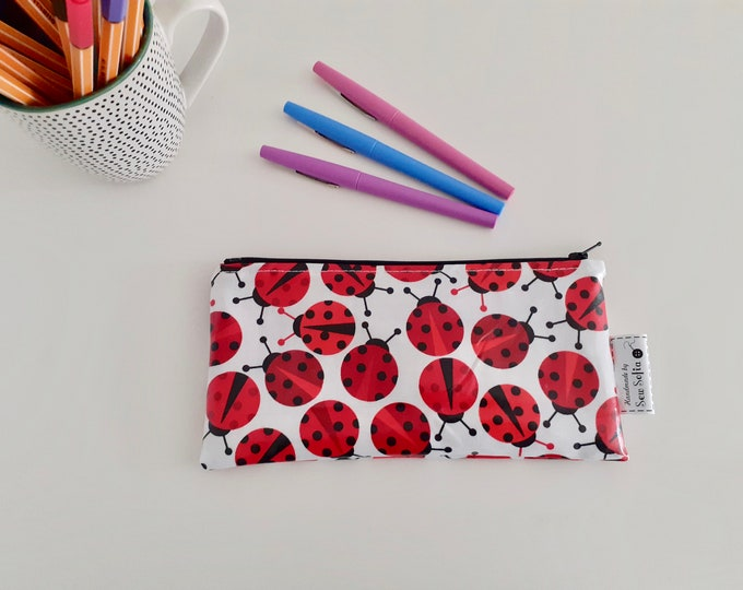 Featured listing image: Ladybirds wipe clean pencil case