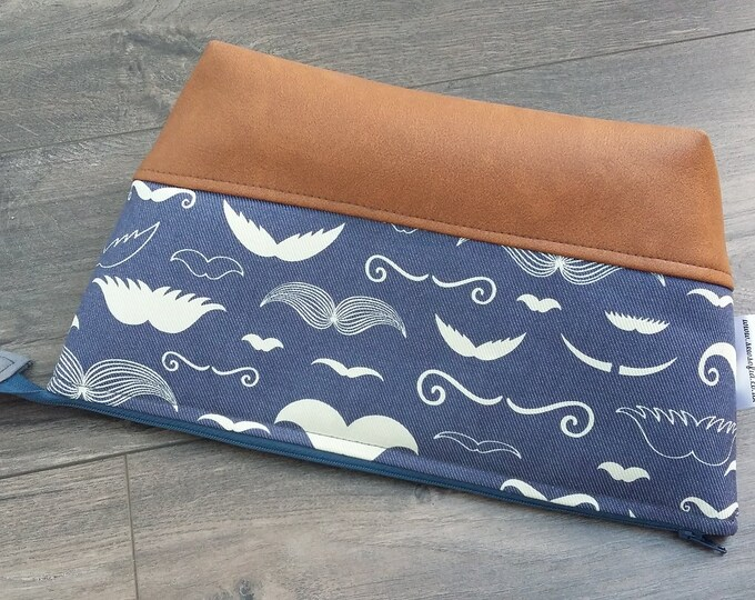RARE PRINT Moustache Wash Bag