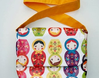 Russian Dolls wipe clean dolly changing bag