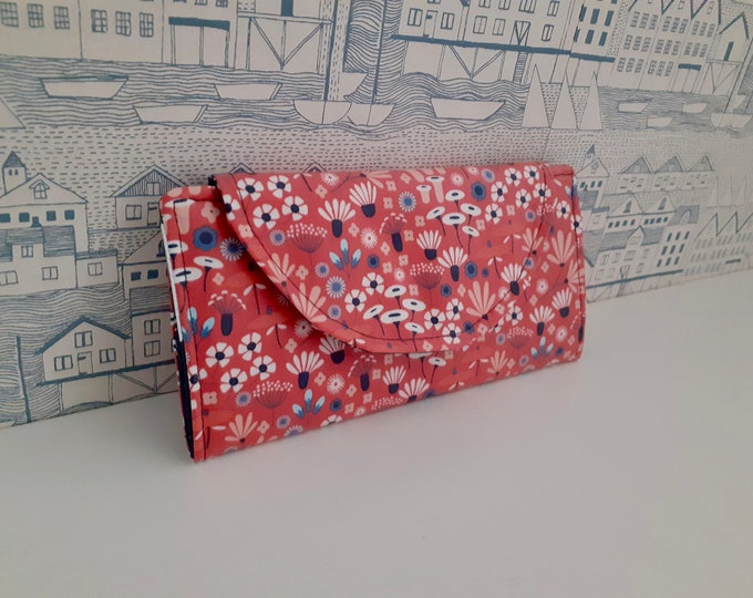 Wildflower wipe clean slimline wallet