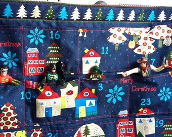 SALE Midnight Blue Christmas Quilted Advent Calendar