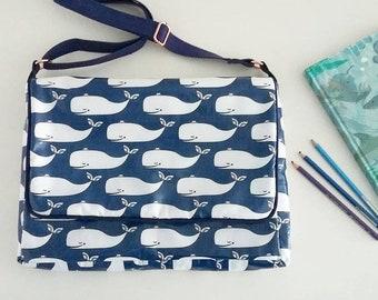 Whales Wipe clean satchel
