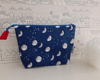 Moon and Stars wipe clean zipped bag