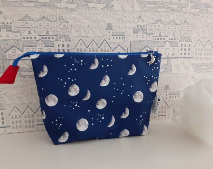 Moon and Stars wipe clean zipped bag