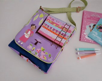 Princess and the Pea large messenger bag