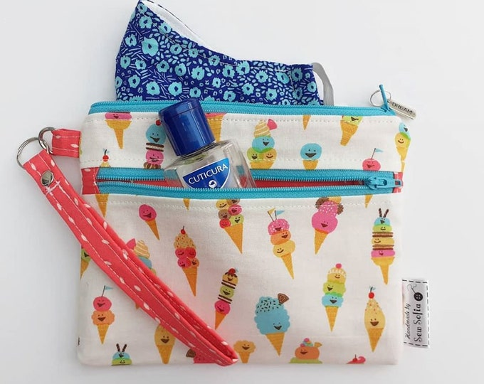 Featured listing image: RESERVED for Michelle H - Custom wipe clean wristlet pouch