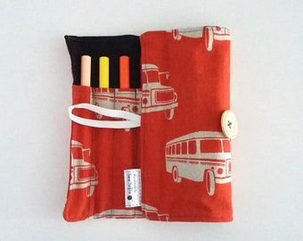 Retro Bus Pen Roll