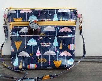 Weather Girl wipe clean Cross Body Bag