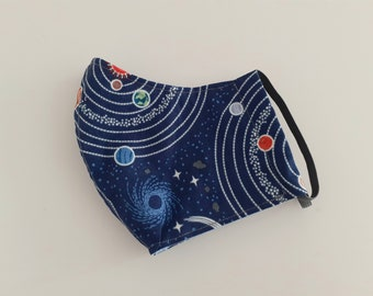 Solar System fabric face mask