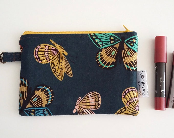 Featured listing image: Butterflies zip purse