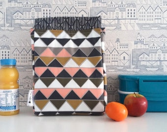 Prisms large lunch bag - wipe clean, insulated