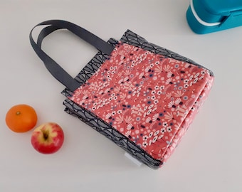 Wildflowers wipe clean insulated lunch bag