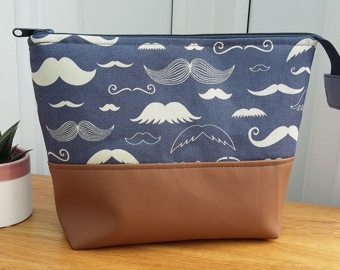 Featured listing image: Moustache Wash Bag