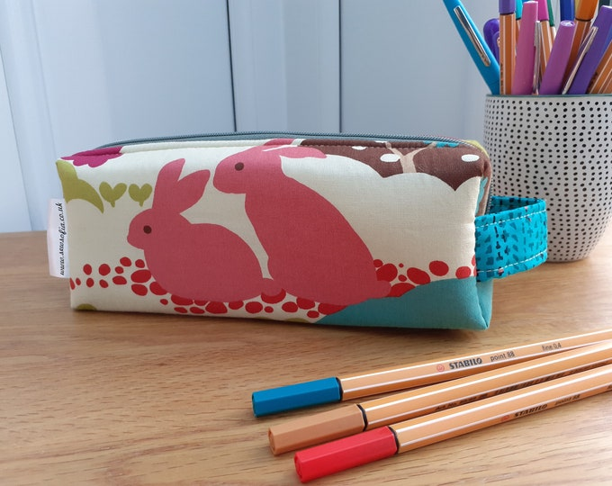 Woodland double zipped boxy pencil case