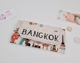 RARE Bangkok canvas slimline wallet