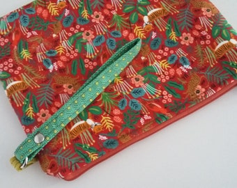 Jungle Menagerie Padded Wristlet pouch