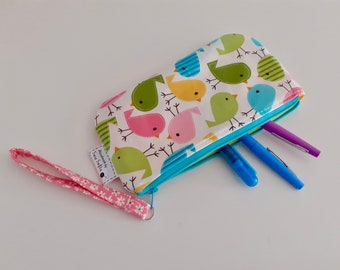 Little Chicks wipe clean wristlet pouch
