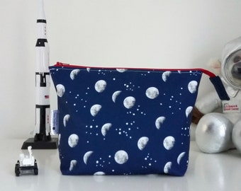 LIMITED EDITION Moons and Stars wipe clean zipped bag
