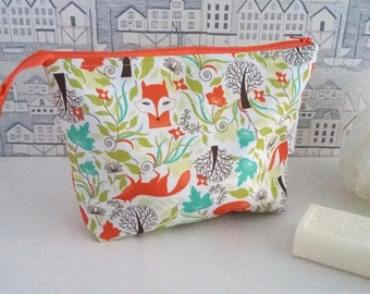 Foxes wipe clean zip bag