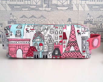 Mon Amie double zipped boxy pencil case