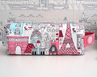 Made to order - Mon Amie double zipped boxy pencil case